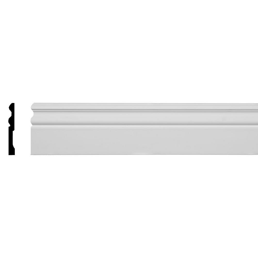 1/2 in. x 4-3/4 in. x 94-1/2 in. Polyurethane Bradford Baseboard Moulding