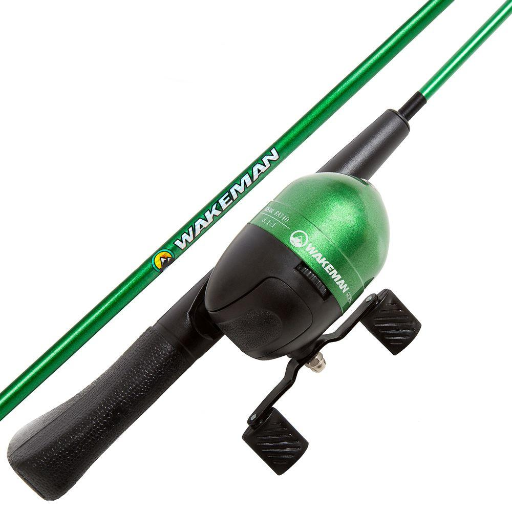 Spawn Series Kids Spincast Combo and Tackle Set in Green