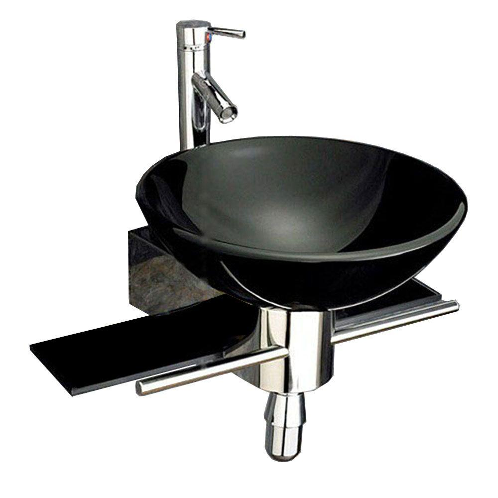 Kokols Palasa Wall Mounted Bathroom Sink In Black