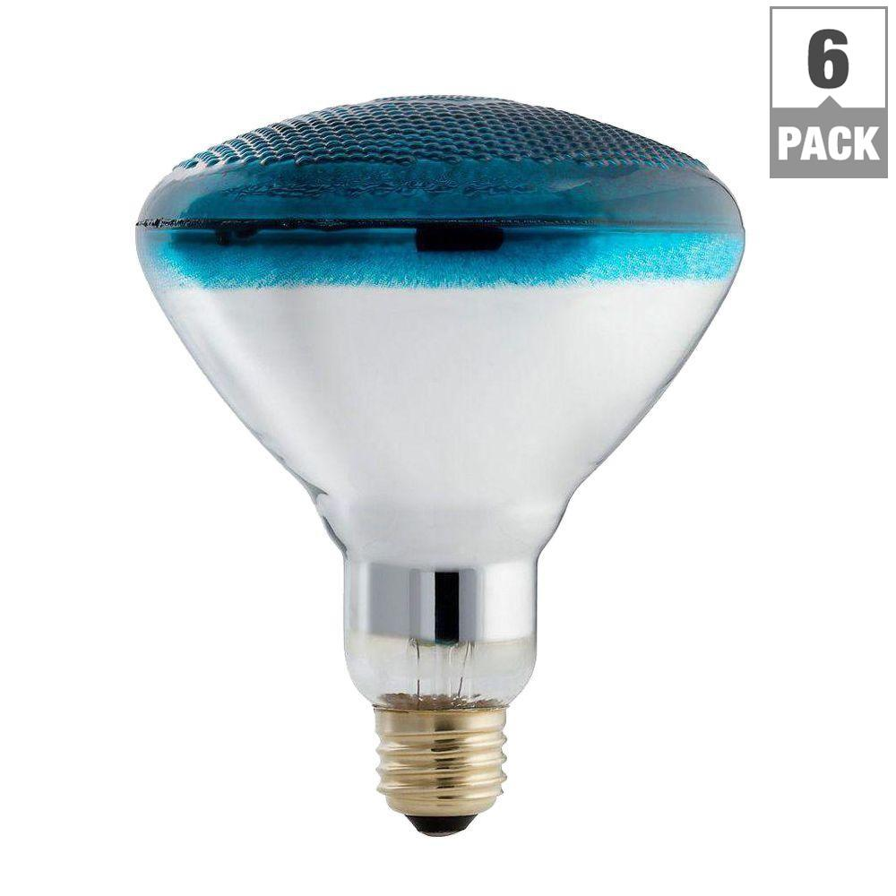 Philips 100-Watt PAR38 Incandescent Autism Speaks Blue Flood Light Bulb (6-Pack)