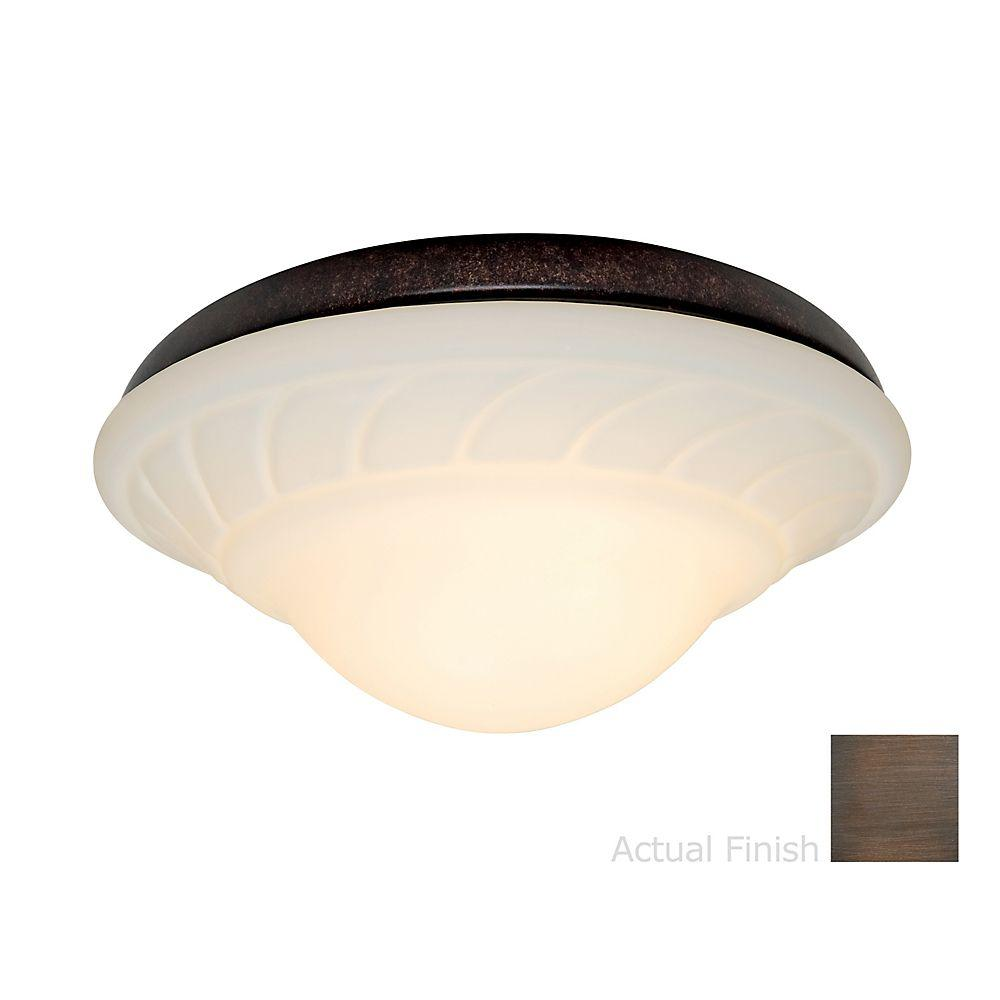 Casablanca 2-Light Brushed Cocoa Ceiling Fan Center-Stem Wet-Location Fixture with Globe-DISCONTINUED