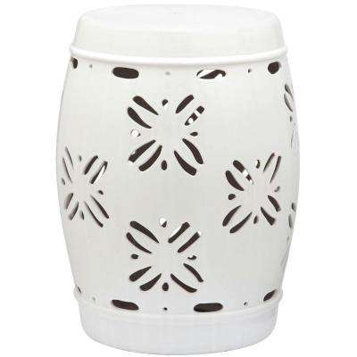Sakura White Garden Patio Stool