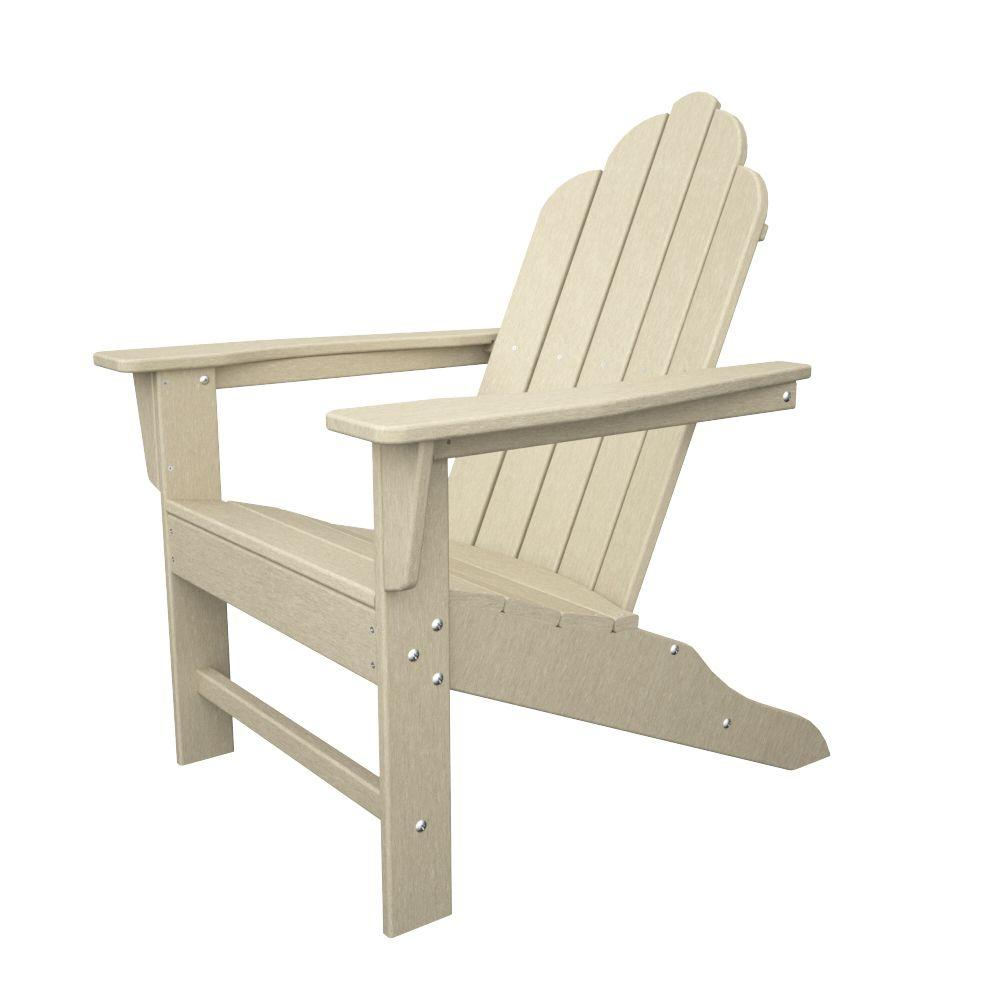 Long Island Sand Plastic Patio Adirondack Chair