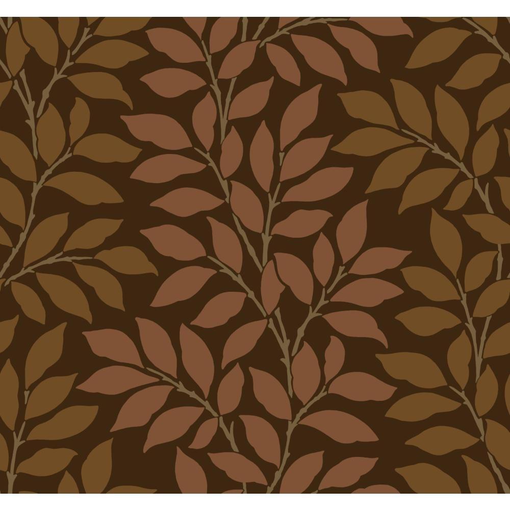 Leaf Stripe Wallpaper