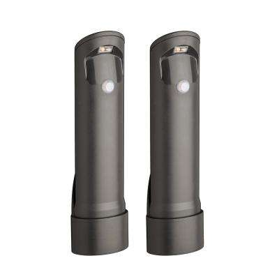 Wireless Bronze Motion Sensing Outdoor Integrated LED Pathway Lights (2-Pack)