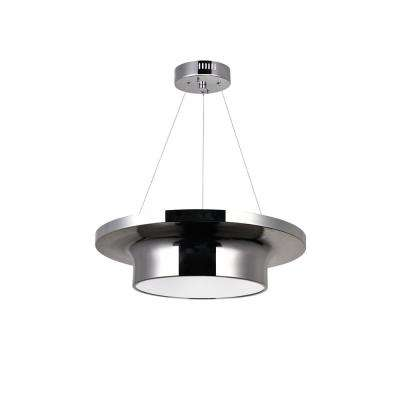 Discus 3-Light Polished Nickel Drum Chandelier