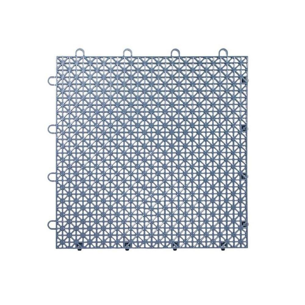 Armadillo Tile Steel Blue 12 in. x 12 in. Polypropylene Interlocking