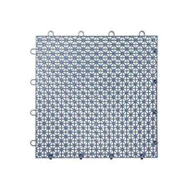 Armadillo Tile Steel Blue 12 in  x 12 in  Polypropylene Interlocking  Multipurpose Floor Tile (9-Pack)
