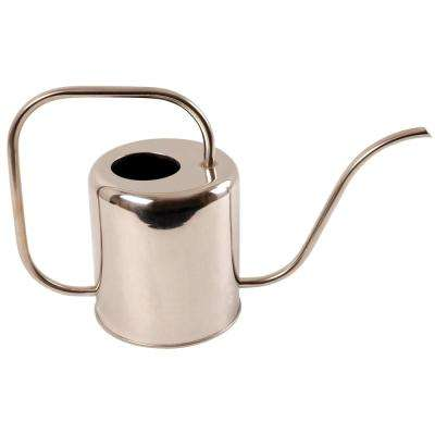 1/2 Gal. Modern Style Stainless Steel Watering Can