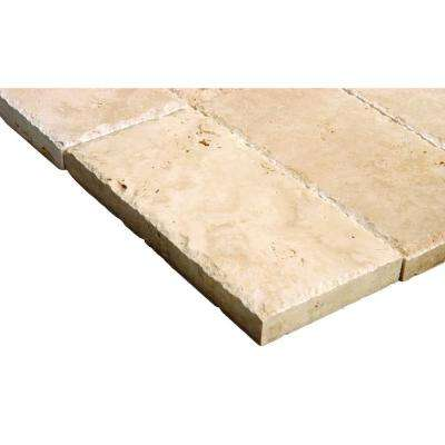 Mediterranean Walnut 6 in. x 12 in. Chiseled Travertine Paver Tile (187-Pieces/93.5 sq. ft./Pallet)