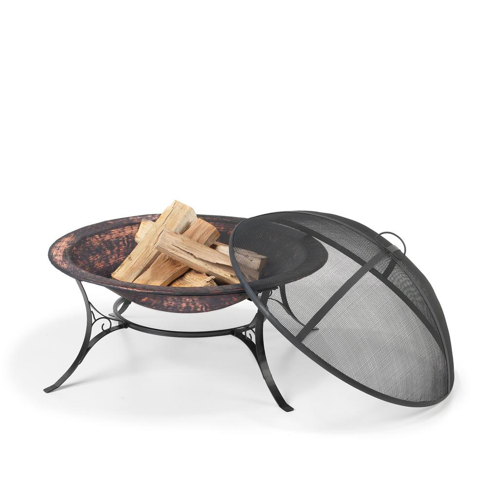 Good Directions 30 in. Wrought Iron and Steel Fire Pit with Spark Screen