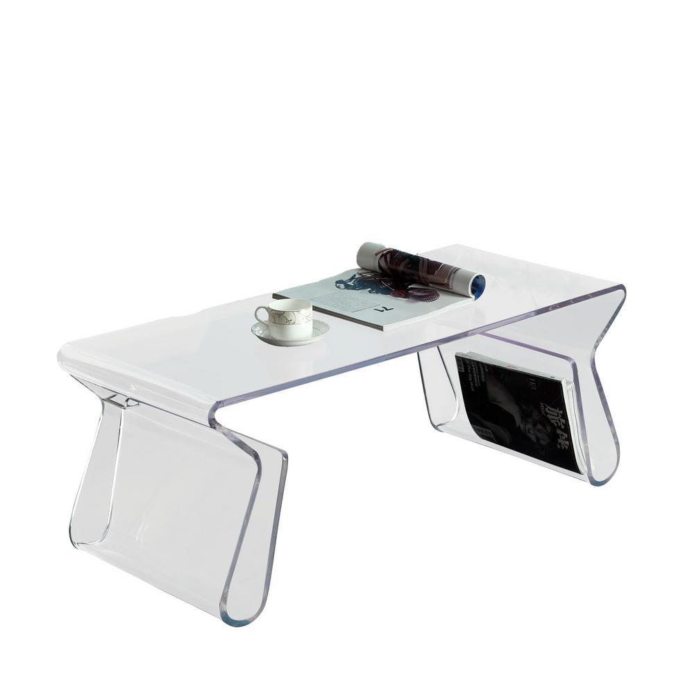 Clear Magazine Acrylic Coffee Table