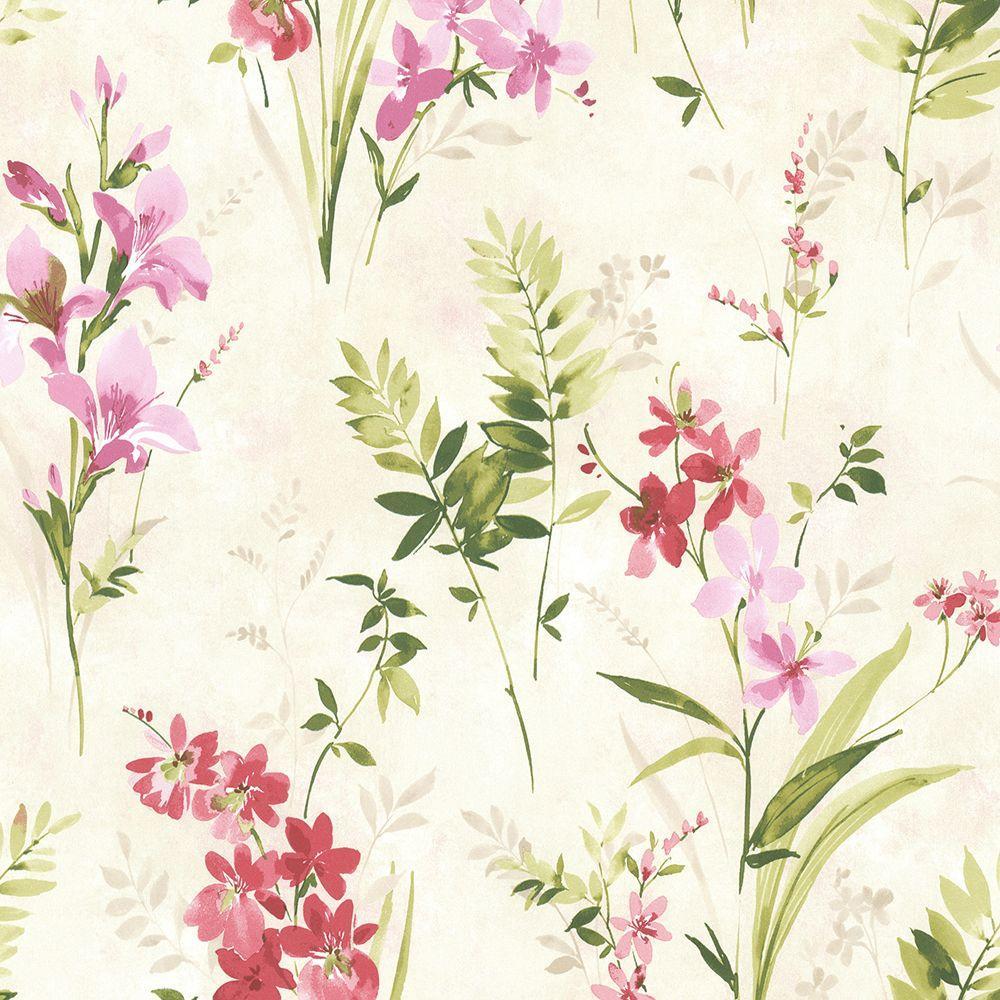 Brewster Driselle Pink Floral Wallpaper 2686 21627 The Home Depot