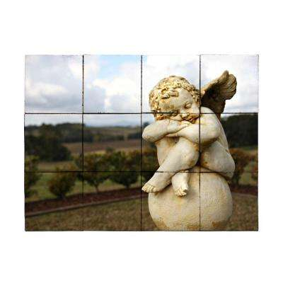 Angel2 24 in. x 18 in. Tumbled Marble Tiles (3 sq. ft. /case)