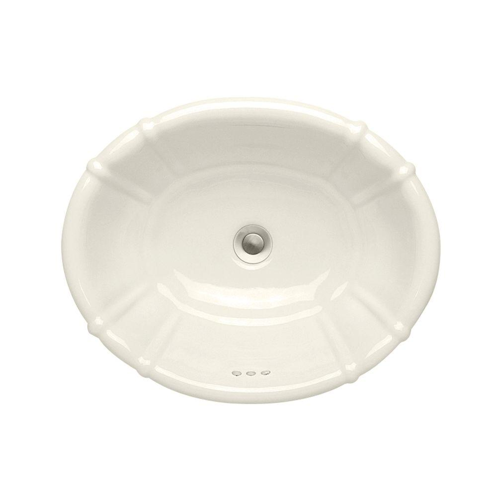 Porcher Belle Terra Grande Countertop Bathroom Sink in Linen-DISCONTINUED