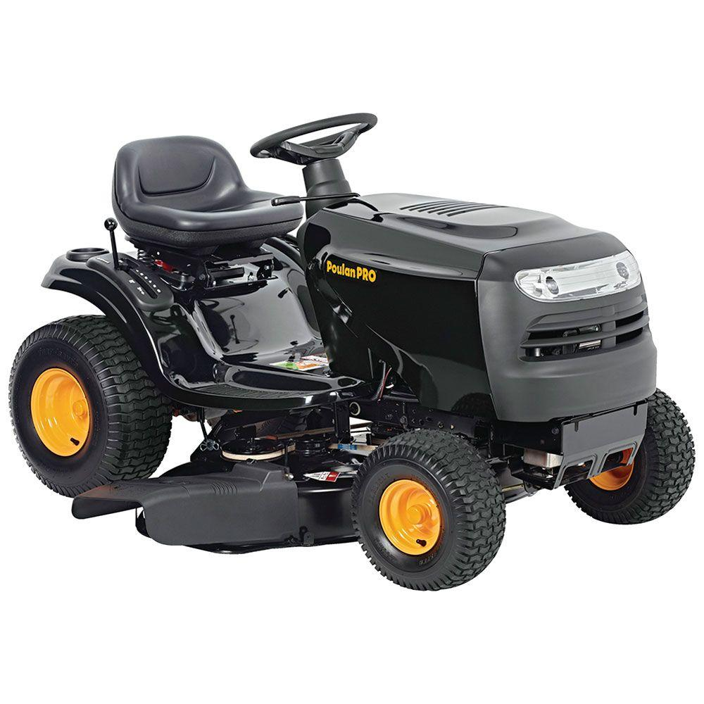 pp175g42 42 in  17-1/2 hp briggs & stratton gas 6-speed gear front-engine  lawn tractor-california compliant-960460076 - the home depot