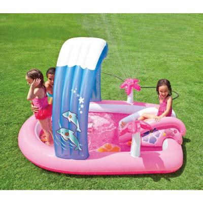 83 in. x 64 in. x 6 in. D Oval Hello Kitty Kiddie Pool