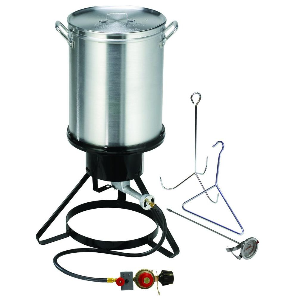 Bayou Classic 55,000 BTU High-Pressure Propane Gas Outdoor Cooker ...