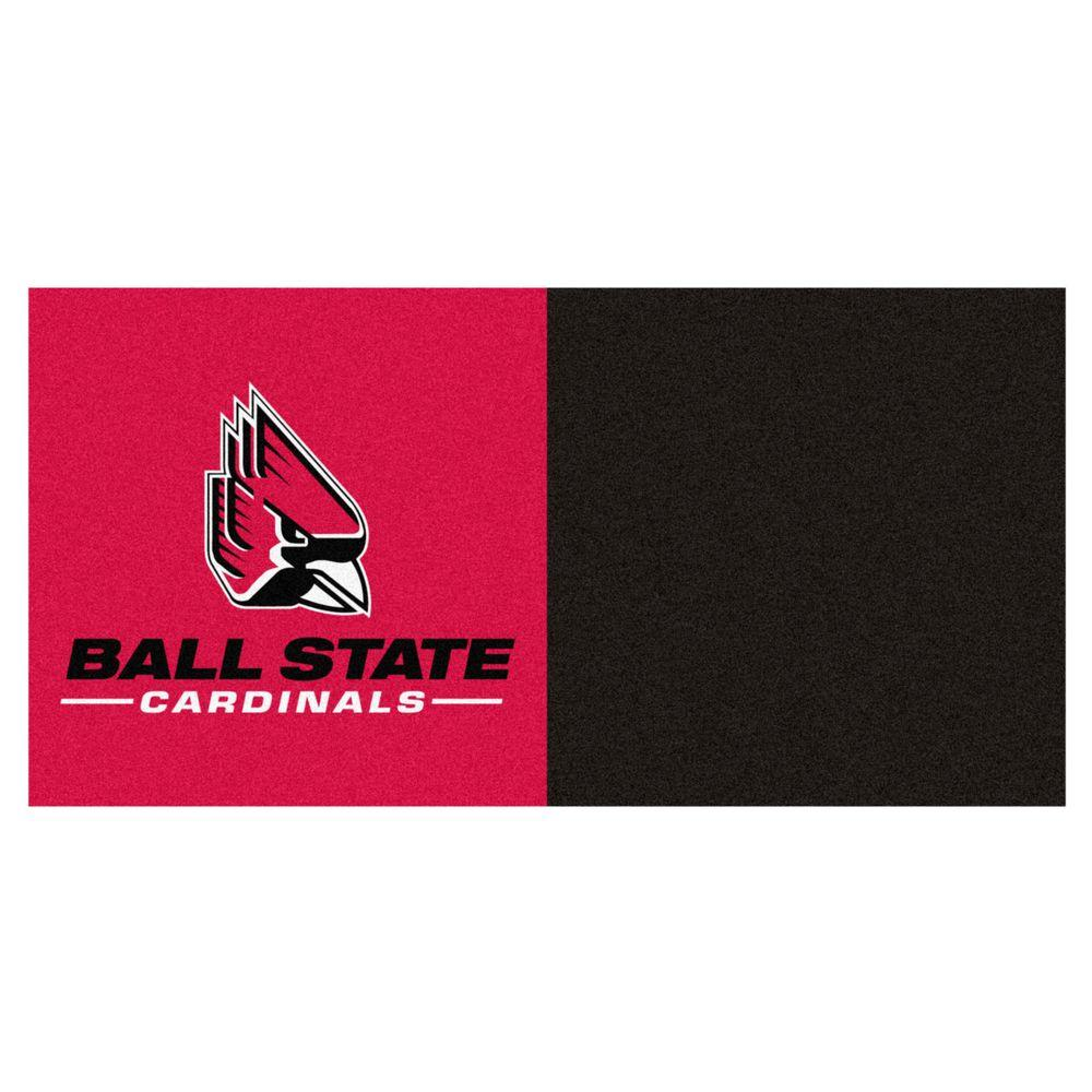 NCAA - Ball State University Black and Red Pattern 18 in.