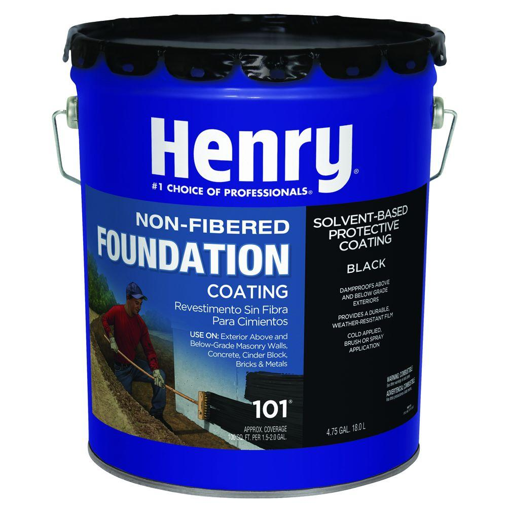 Henry 101 Gal Unfibered Foundation And Asphalt Roof Coating He101571 The Home Depot