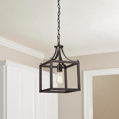Boswell Quarter 1-Light Distressed Black Mini-Pendant