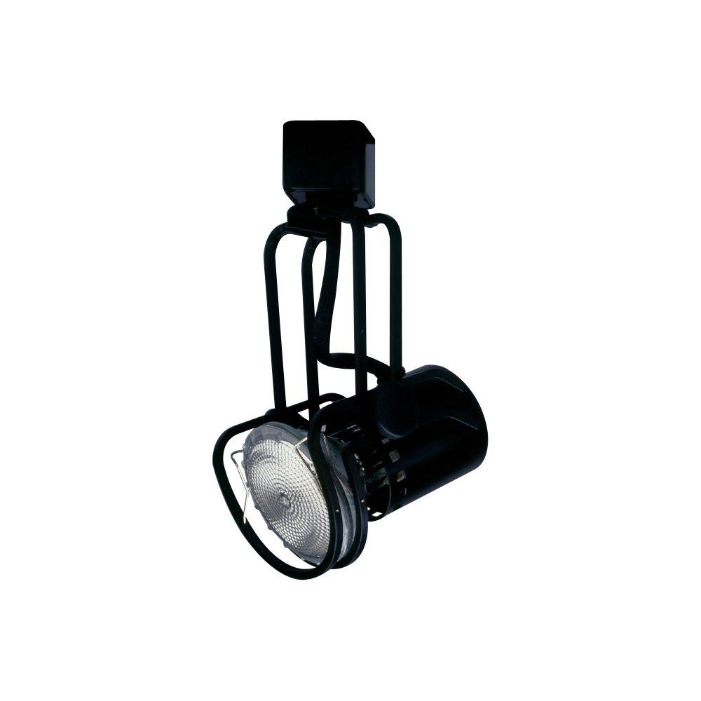 PLC Lighting 1-Light Black Track Light Fixture