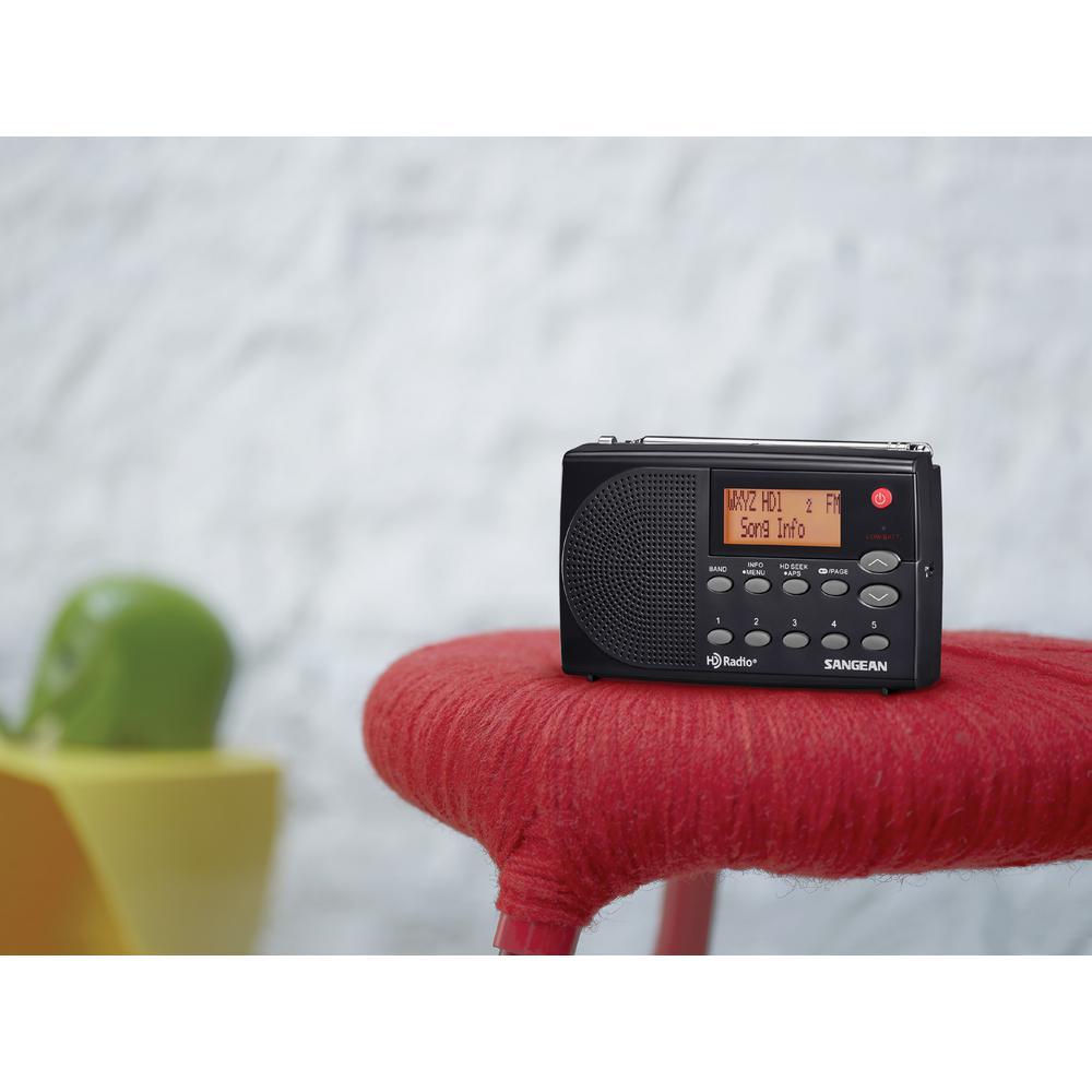 AM/FM HD Stereo Portable Pocket Radio