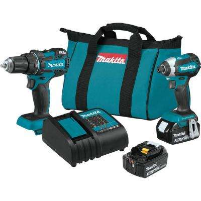 18-Volt LXT Lithium-ion Brushless Cordless 2-Piece Combo Kit (Driver-Drill/ Impact Driver) 3.0Ah