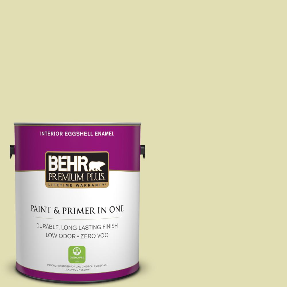 1-gal. #M340-3 Pale Green Grape Eggshell Enamel Interior Paint