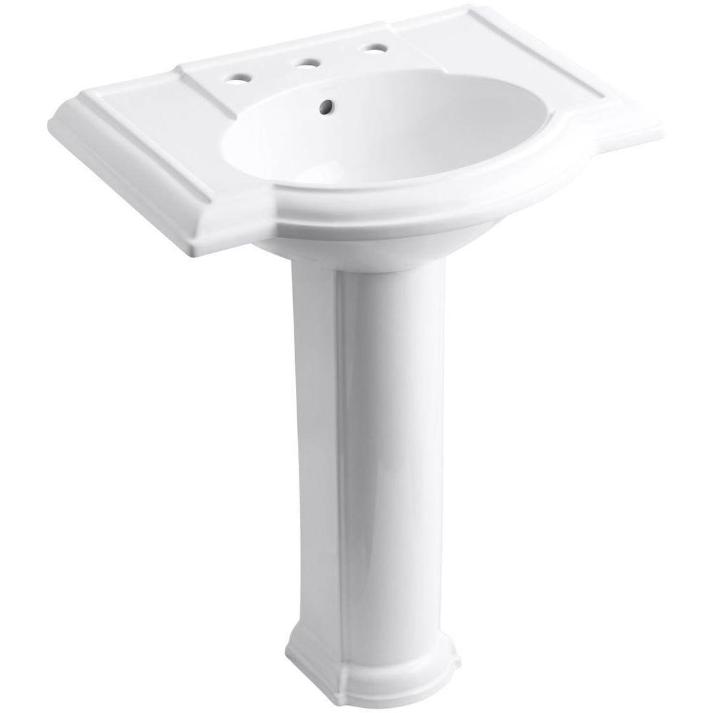 Beau Kohler Devonshire Vitreous China Pedestal Combo Bathroom .