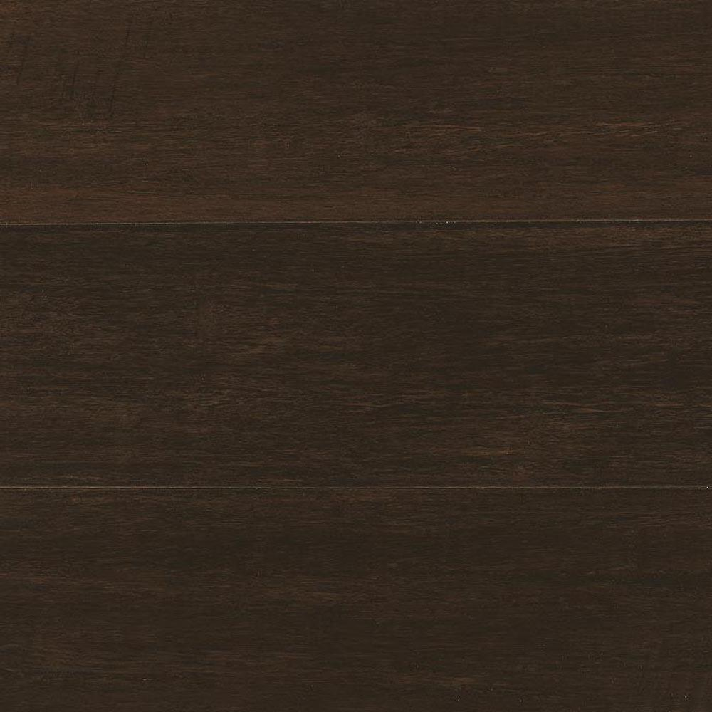 Home Decorators Collection Take Home Sample - Hand Scraped Wire Brush Strand Woven Chai Solid Bamboo Flooring - 5 in. x 7 in.
