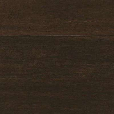 Take Home Sample - Hand Scraped Wire Brush Strand Woven Chai Click Bamboo Flooring - 5 in. x 7 in.
