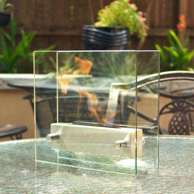 Irradia 13.7 in. Tabletop Decorative Bio-Ethanol Fireplace in Stainless