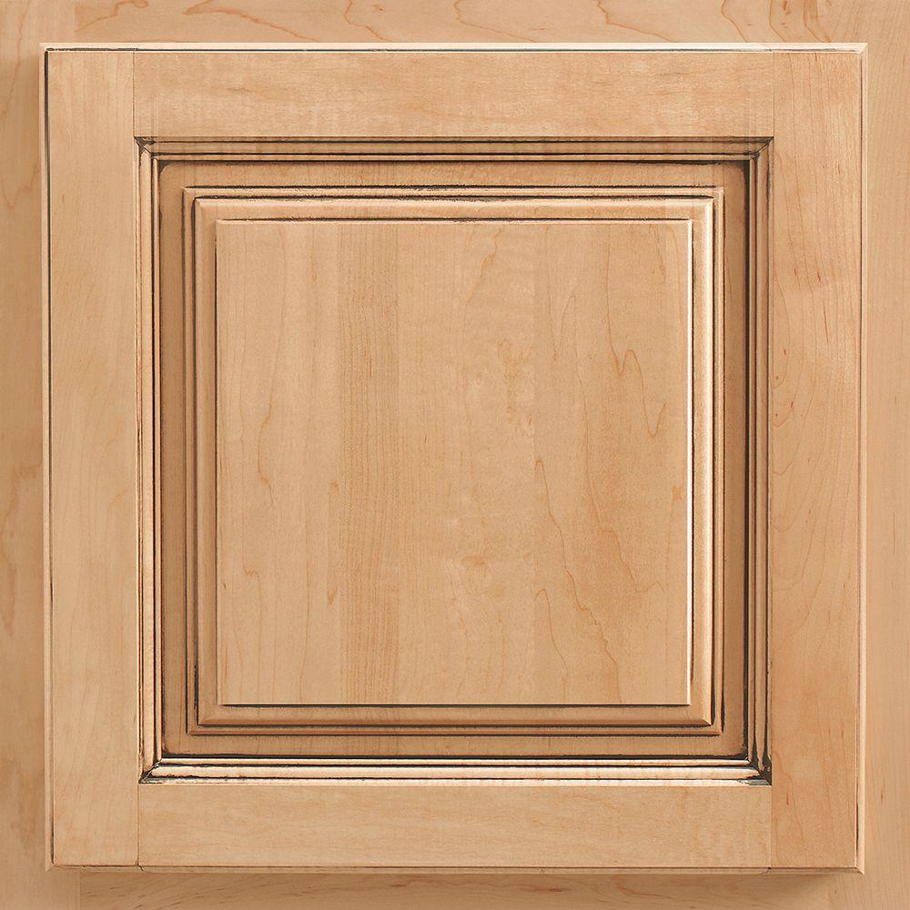 13x12-7/8 in. Cabinet Door Sample in Newport Maple Coffee Glaze