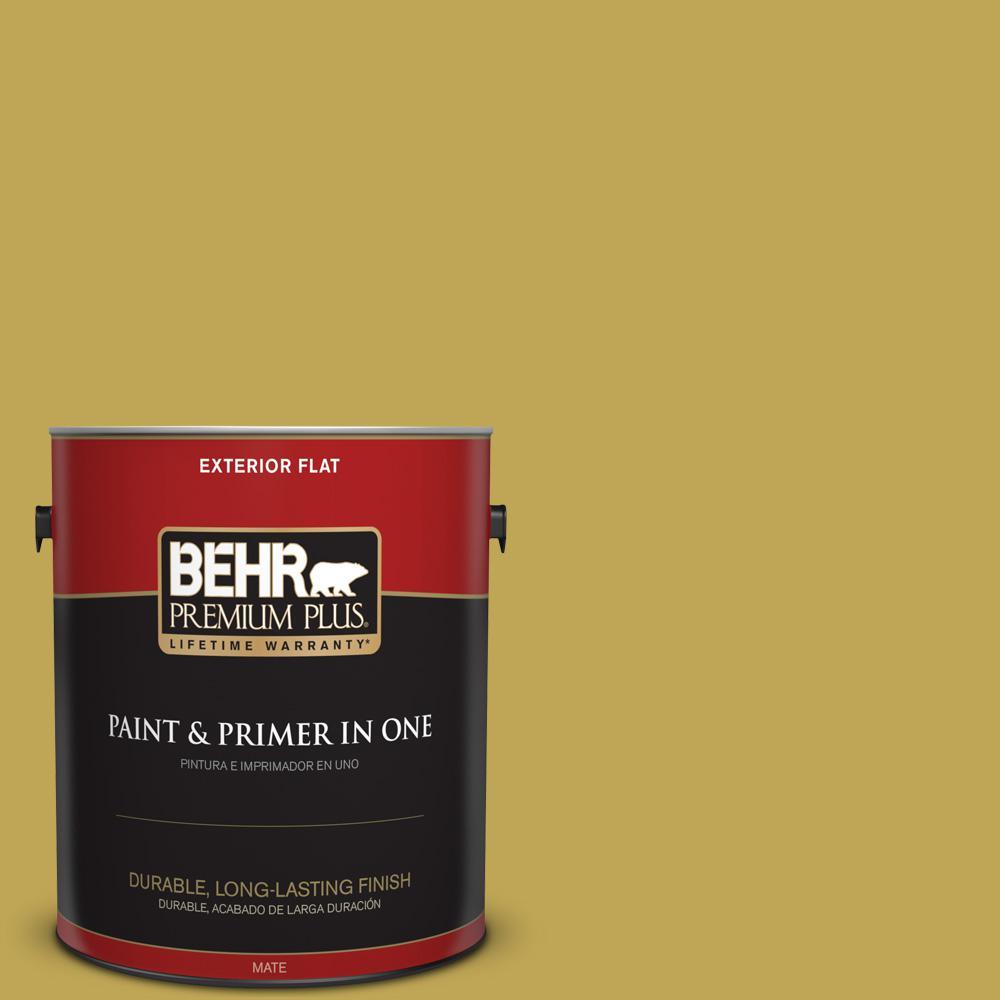 1 gal. #PPU6-18 Lemongrass Flat Exterior Paint