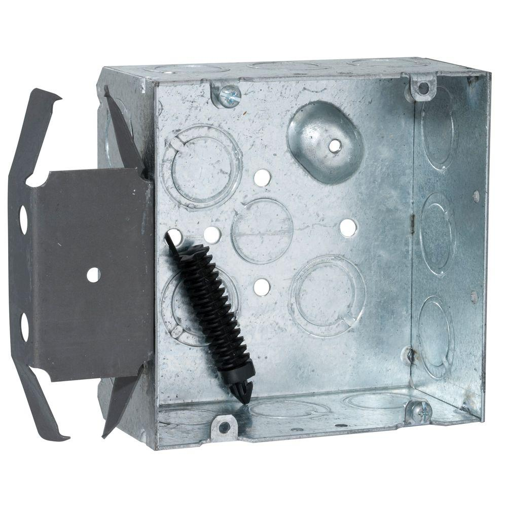 4-11/16 in. Square Welded Box, 2-1/8 in. Deep with 1/2 and