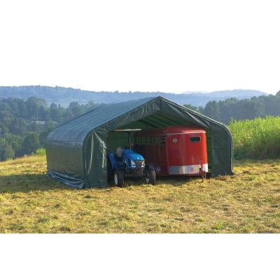 22 ft. W x 28 ft. D x 10 ft. H Green Garage without Floor with Corrosion-Resistant Steel Frame