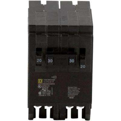 Homeline 2-20 Amp Single-Pole 1-30 Amp 2-Pole Quad Tandem Circuit Breaker