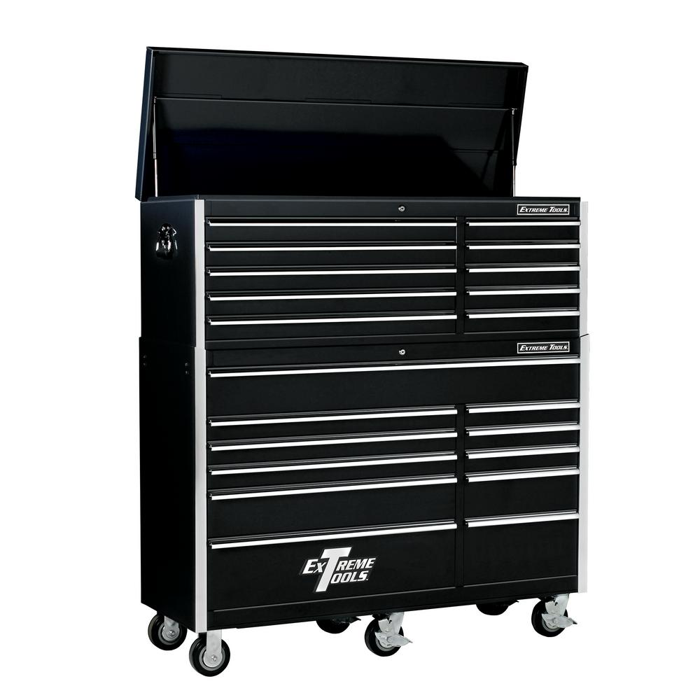 EX Standard Series 56 in. 10-Drawer Top Chest and 11-Drawer Roller