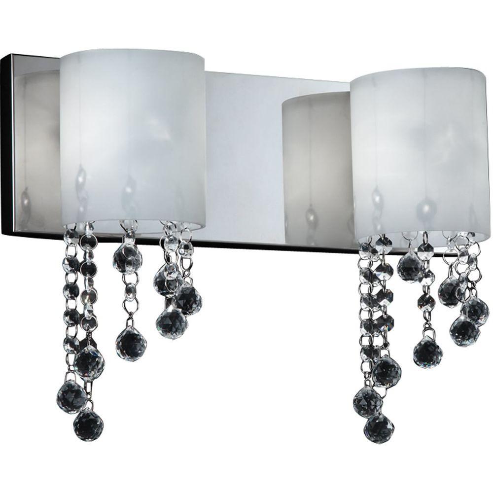 Filament Design Lawrence 2-Light Chrome Halogen Bath Vanity Light