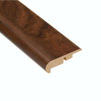 High Gloss Monterrey Walnut 7/16 in. Thick x 2-1/4 in. Wide x 94 in. Length Laminate Stair Nose Molding