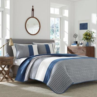 Swale Blue King Quilt