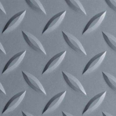 Diamond Tread 8.5 ft. x 24 ft. Slate Grey Commercial Grade Vinyl Garage Flooring Cover and Protector Roll