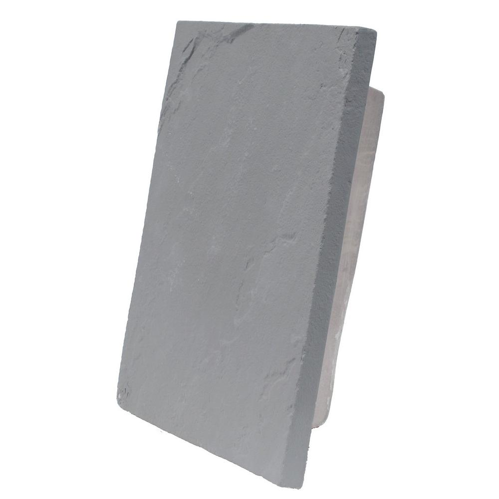 Sandstone Graphite 13 in. x 10 in. Gray Faux Polyurethane Large
