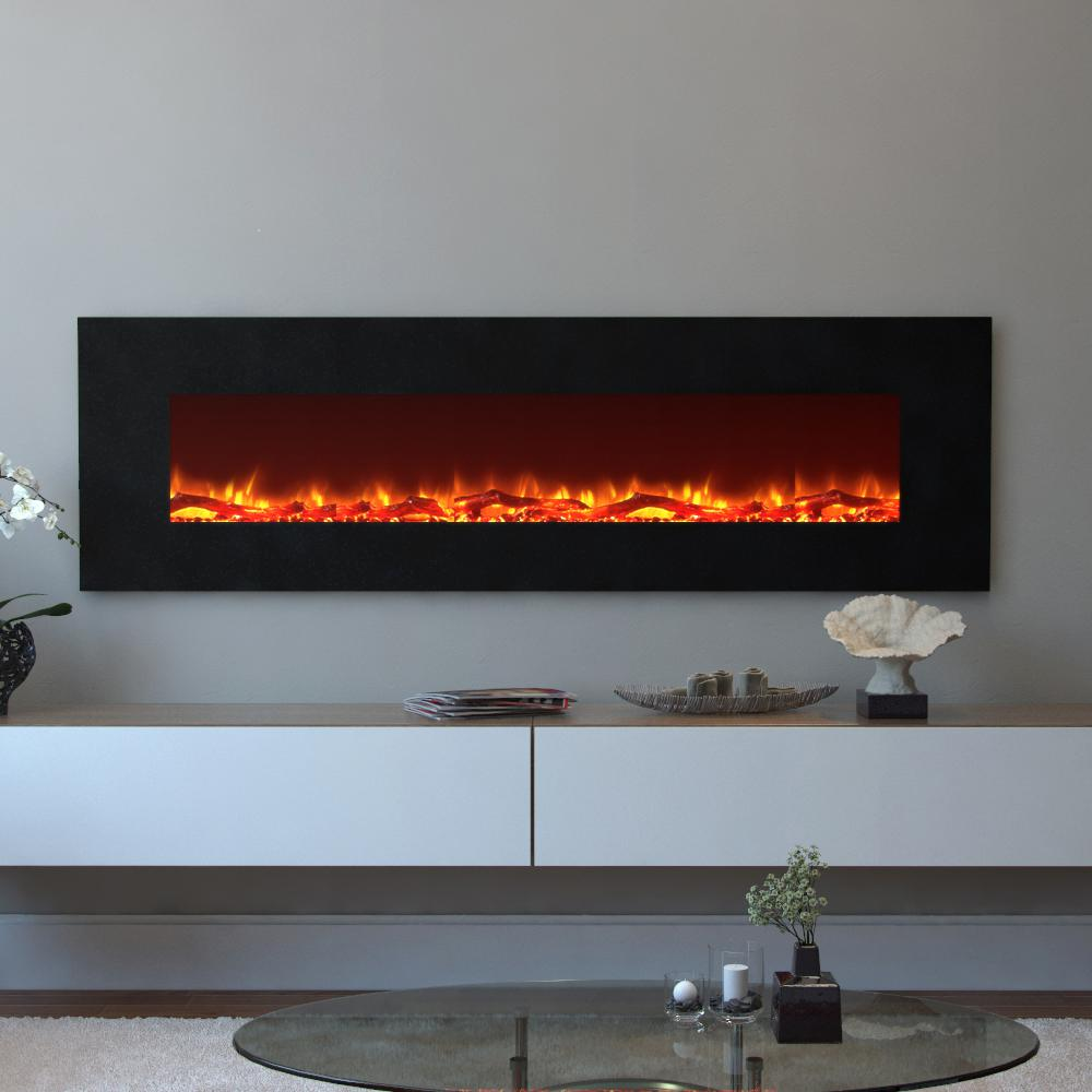 Moda Flame Skyline 72 in Skyline Log Electric Wall