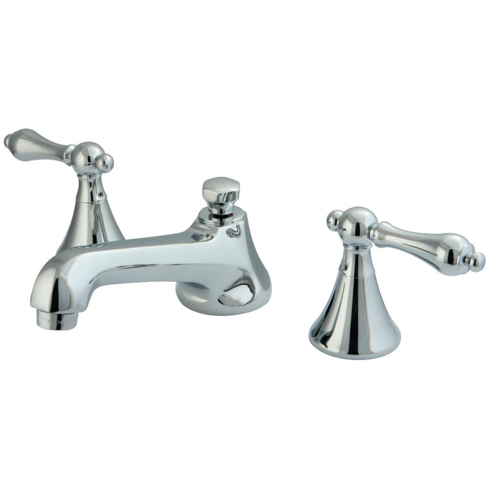 Kingston Brass Modern 8 In. Widespread 2-Handle Bathroom Faucet In Chrome-HKS4471AL