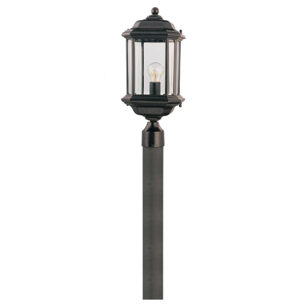 Sea Gull Lighting Kent 1-Light Black Outdoor Post Top