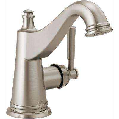 Mylan 4 in. Centerset Single-Handle Bathroom Faucet in SpotShield Brushed Nickel