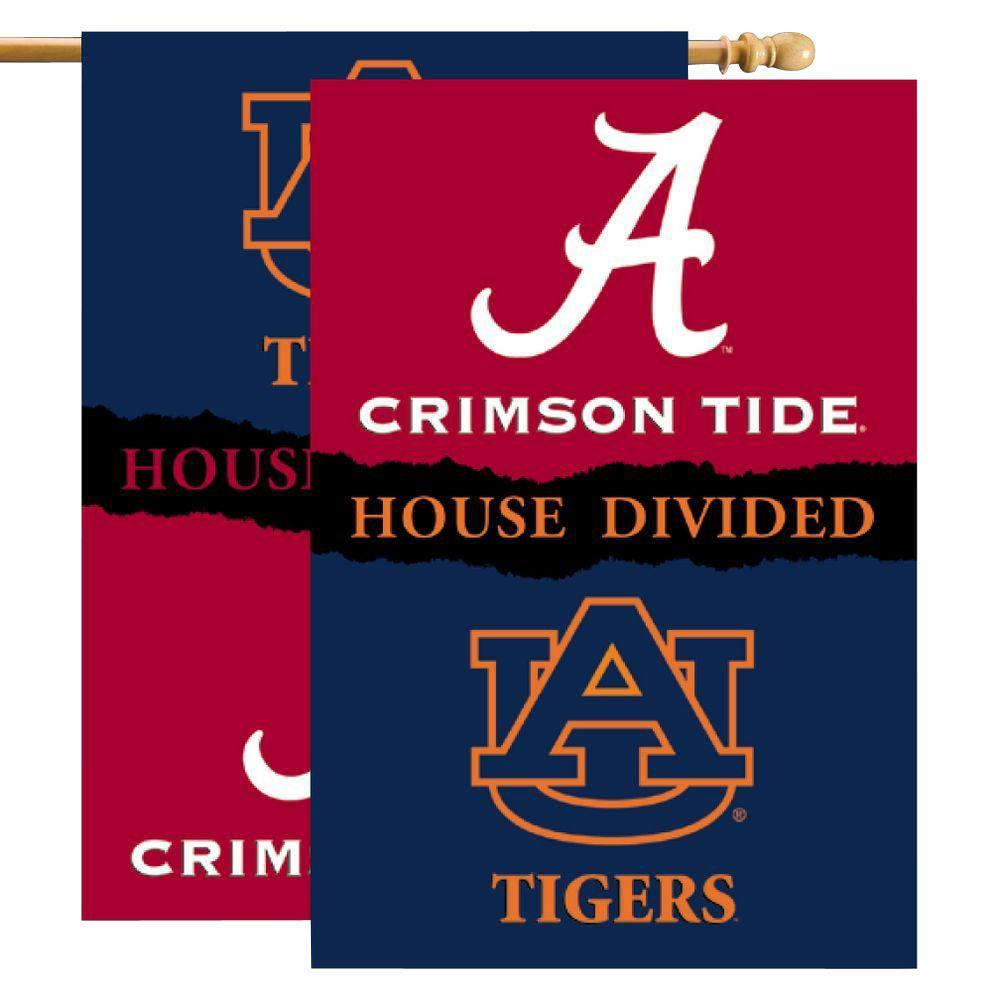 NCAA 28 in. x 40 in. Alabama/Auburn Rivalry House Divided Flag