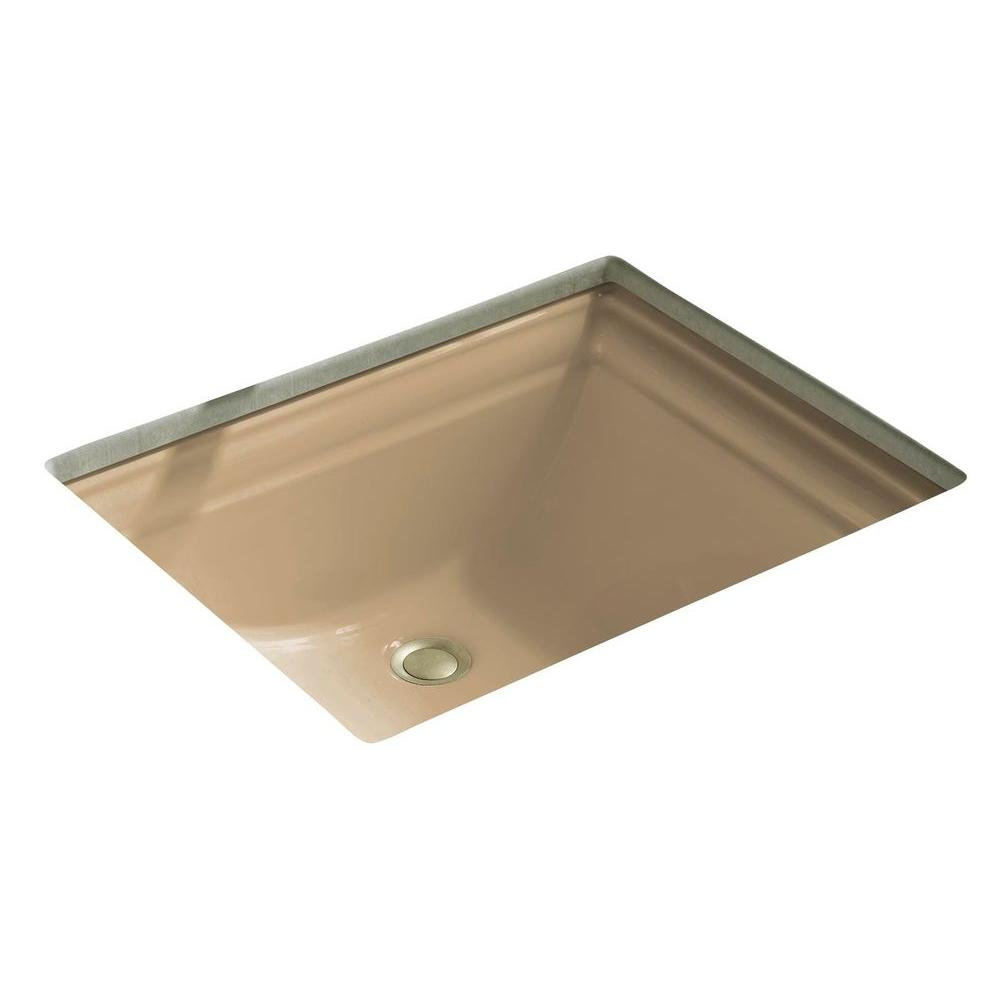 Memoirs Vitreous China Undermount Bathroom Sink in Mexican Sand with Overflow